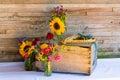 Wedding Decorations Organic Wildflowers Stock Photo