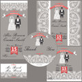 Wedding design template with Paisley border,cartoon wedding clo