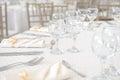 Wedding dinner table set Royalty Free Stock Photo