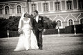 With the wedding dress` Royalty Free Stock Photo
