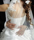 Wedding dress back corset Royalty Free Stock Photos