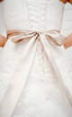 Wedding dress back detail close up Stock Images