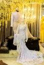 Wedding dress with bulb light Stock Photography