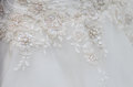Wedding dress close detail on Royalty Free Stock Images