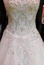 Wedding dress detail Royalty Free Stock Photo