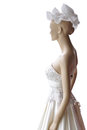 Wedding dress in a doll with clipping paths Royalty Free Stock Image