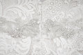 Wedding dress fabric close up Royalty Free Stock Photo