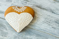 Wedding dress heart cookie. Royalty Free Stock Photo