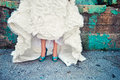 Wedding Dress In Urban Place