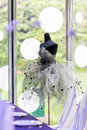 Wedding dress beside the window Royalty Free Stock Image
