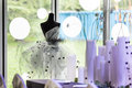 Wedding dress beside the window Stock Photography