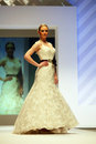 Wedding dresses fashion show Royalty Free Stock Photos