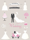 Wedding elements for infographics or invitation Royalty Free Stock Image
