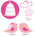 Wedding elements vector Stock Image