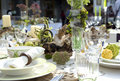 Wedding festive table closeup Royalty Free Stock Photo