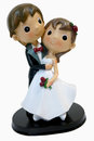 Wedding figurines of a bride and her groom valentines and marriage celebration Stock Images