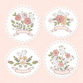 Wedding floral graphic set editable vector Royalty Free Stock Photo