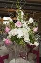 Wedding floral table arrangement Stock Photos