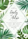 Wedding floral watercolor invite, invitation, save the date card