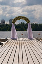 Wedding flower arch Royalty Free Stock Photo