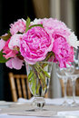 Wedding Flower Arrangement Table Setting Series Stock Photography