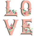 Wedding Flower Love Design Elements Royalty Free Stock Photo
