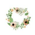 Wedding flower wreath