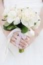 Wedding flowers bouquet bride holding Stock Photography