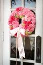 Wedding Flowers Outside A Church
