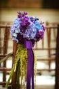 Svadba kvety na sedadlo