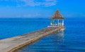 Wedding Gazebo on Beach Pier Royalty Free Stock Photo