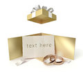 Wedding gift box with card Stock Photo
