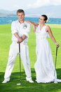 Wedding golf Royalty Free Stock Image