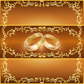 Wedding greeting or invitation card Stock Photography