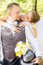 Wedding, happy young couple Royalty Free Stock Photo