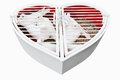 Wedding heart with white pigeons isolated hart on Stock Photos
