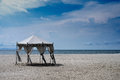 Wedding hut at the beach scenic view of langkawi island malaysia Royalty Free Stock Images