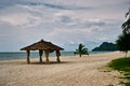 Wedding hut at the beach scenic view of langkawi island malaysia Stock Photo