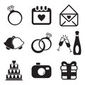 Wedding icons this image is a vector illustration and can be scaled to any size without loss of resolution Stock Image