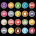 Wedding icons with long shadow stock vector Royalty Free Stock Image