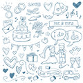 Royalty Free Stock Photo Wedding Doodles