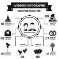 Wedding infographic concept, simple style