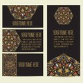 Wedding invitation and announcement card with ornament in Arabian style. Arabesque pattern. Eastern ethnic ornament.