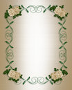 Wedding Invitation antique roses Royalty Free Stock Photo