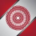 Wedding invitation background. with red and silver mandala vector illustration