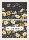 Wedding invitation. Beautiful flowers Chamomile. Vintage greeting card. Frame. Drawing engraving. Vector victorian Illustration.