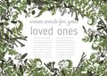 Wedding invitation, beautiful greeting card, vector watercolor banner. Angled frame with green eucalyptus leaves, brunia, boxwood
