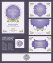Wedding Invitation / Bridal shower with floral bouquets and wreath design