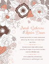 Wedding invitation card Royalty Free Stock Images