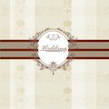 Wedding invitation card for design beautiful vector in elegant style Royalty Free Stock Photos